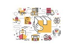 Logistics and transportation Royalty Free Stock Photos
