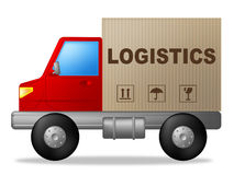 Logistics Truck Shows Strategies Logistical And Transporting Royalty Free Stock Photos