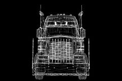 Logistics - Trucking. 3D model, body structure , wire model Royalty Free Stock Images