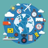Logistics vector concept Royalty Free Stock Photography