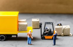 Logistics warehouse freight transportation concept Royalty Free Stock Images