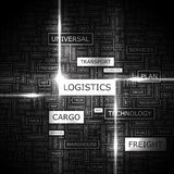 LOGISTICS. Word cloud illustration. Tag cloud concept collage Royalty Free Stock Photography