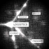 LOGISTICS. Word cloud illustration. Tag cloud concept collage Royalty Free Stock Images