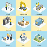 Logistics working process Royalty Free Stock Image