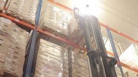 Logistiekpakhuis met goederen stock footage
