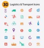 Logistiekpictogrammen, Kleurrijke versie Stock Afbeelding