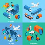 Logistik-isometrischer Satz Stockfoto