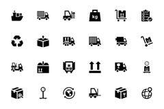 Logistik-Lieferungs-Vektor-Ikonen 1 Lizenzfreies Stockfoto