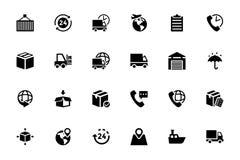 Logistik-Lieferungs-Vektor-Ikonen 4 Lizenzfreie Stockbilder
