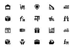 Logistik-Lieferungs-Vektor-Ikonen 5 Stockbilder