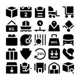 Logistik-Lieferungs-Vektor-Ikonen 5 Lizenzfreies Stockbild