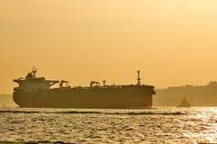 Logistik och trans. av det internationella behållarelastfartyget Frakttrans. som sänder Arkivbild