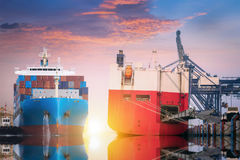 Logistik och trans. av internationalen Arkivbilder