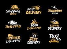 Logistik- und Lieferungsvektorikonen eingestellt Internationales Versandsymbol Stockbild