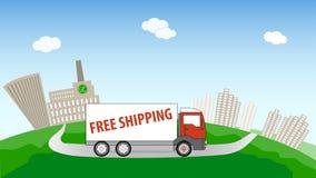 Logistikanbieter, kostenloser Versand Lizenzfreie Stockbilder