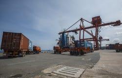 Logistikexportlast royaltyfri foto