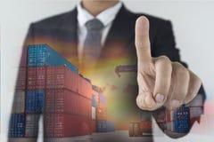 Logistikgeschäftserfolg im Geschäftskonzept stockfoto