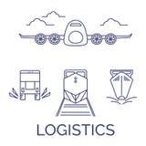 Logistikikonen-Vektorsatz Stockbild