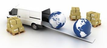 Logistikindustriekonzepte Lizenzfreie Stockfotos