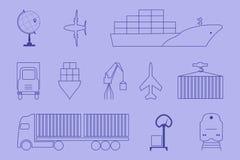 Logistiksatz Stockfoto