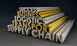 Logistique de chaîne d'approvisionnements illustration de vecteur