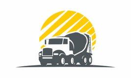 Logistique de logo de transport de voiture de camion Photos libres de droits