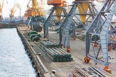 Logistique de port Photo stock