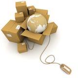 Logistique en ligne mondiale Photos libres de droits
