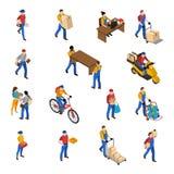 Logistique et icônes de la livraison réglées illustration de vecteur