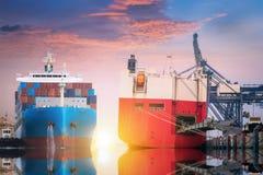 Logistique et transport d'international images stock