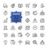 Logistique, la livraison, ensemble d'icône de transport Illustration de vecteur illustration libre de droits