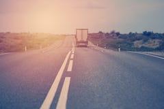 Logistique par camion de récipient Photo stock