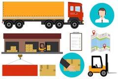 Logistique, services de logistique Transport de marchandises illustration stock