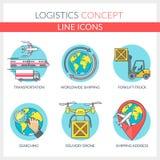 Logistisch en vervoer Stock Illustratie