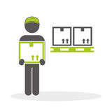 Logistisch ontwerp Het verschepen en Leveringsconceptie Royalty-vrije Stock Afbeelding