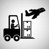 Logistisch ontwerp Het verschepen en Leveringsconceptie Stock Afbeelding