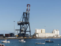 Logistische de haven van de containerkraan Stock Afbeeldingen