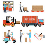 Logistische Geschäftsindustrie der Lieferungspersonenfracht Lizenzfreie Stockbilder
