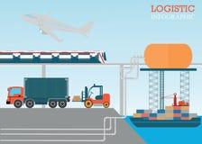 Logistische informatie vectorillustratie Stock Foto's
