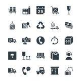 Logistische Lieferungs-kühle Vektor-Ikonen 3 Lizenzfreie Stockfotografie