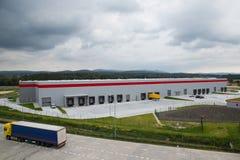 Logistische Mittelhalle Lizenzfreies Stockfoto
