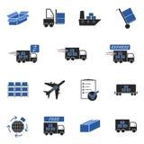 Logistische pictogrammen Royalty-vrije Stock Afbeeldingen
