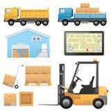 Logistische pictogrammen Stock Foto's