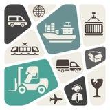 Logistische themaachtergrond stock illustratie