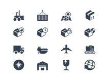 Logistische und Verschiffenikonen Lyra-Reihe Lizenzfreie Stockfotos