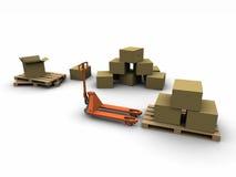 Logistische Versandzone Stockfotografie