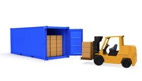 Logistischer Versandservice II Stockfoto