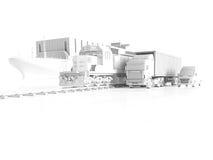 Logistisches Konzept Wiedergabe 3d Stockbilder