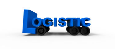 Logistisches Zeichen Lizenzfreies Stockbild
