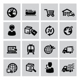 Logistisk och sändningssymbol stock illustrationer